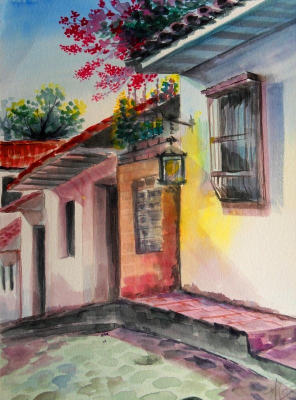 Cuadros modernos pinturas y dibujos paisajes en acuarela - Cuadros para pintar en casa ...