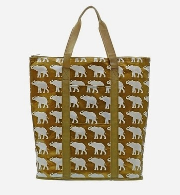 preppy elephant tote bag