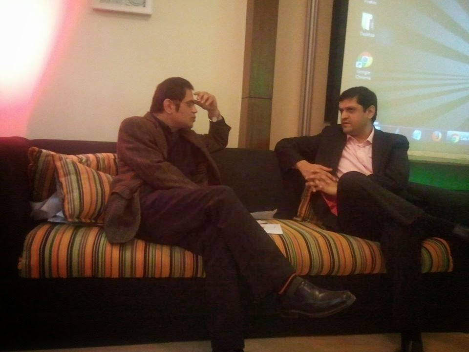 Mr Raza Rumi (left) and Abid Beli (Right)