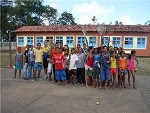 Equipe envolvida no projeto de tênis da escola Olival T Costa Neto