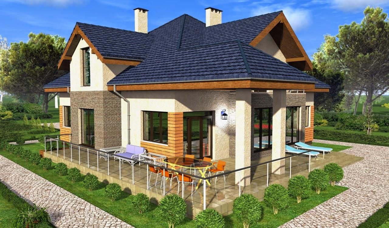 Дом из пеноблоков с мансардой