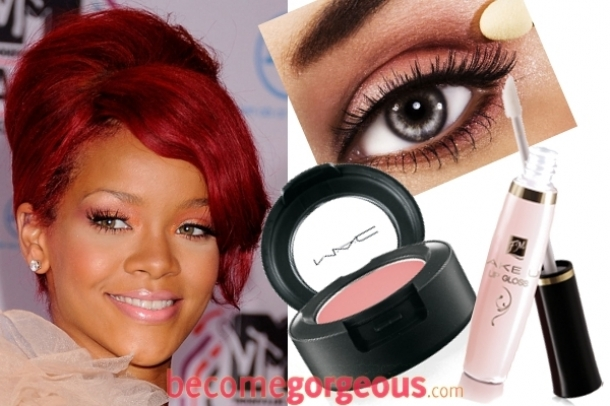 Rihanna Eye Makeup Tutorial. rihanna makeup tutorial.