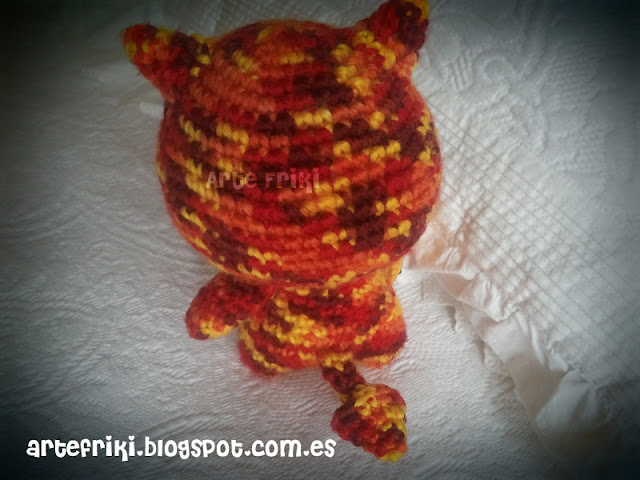 demonio espíritu fuego amigurumi demon fire spirit crochet doll ganchillo muñeco