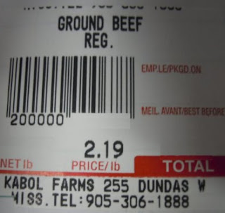image Kabul Ground Meat Packaging label