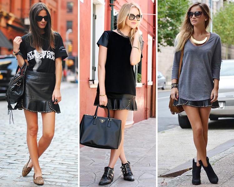 ZARA is the new black  La falda de cuero con volantes y tachuelas de ... be681da25958