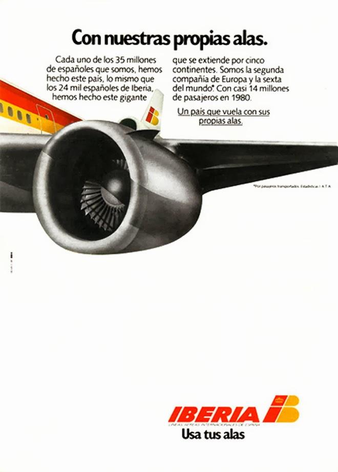 Iberia Publicidad creativa de los años 80