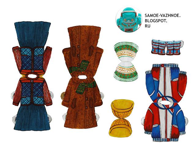 Бумажная кукла Юля девочка, венок на голове ,коричневые кудрявые волосы, голубое платье в горошек
