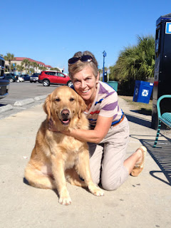 Scout with Nan at Tybee Island on Saturday, December 12, 2015