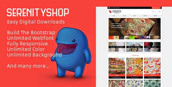 Serenityshop – EDD – Easy Digital Downloads Theme