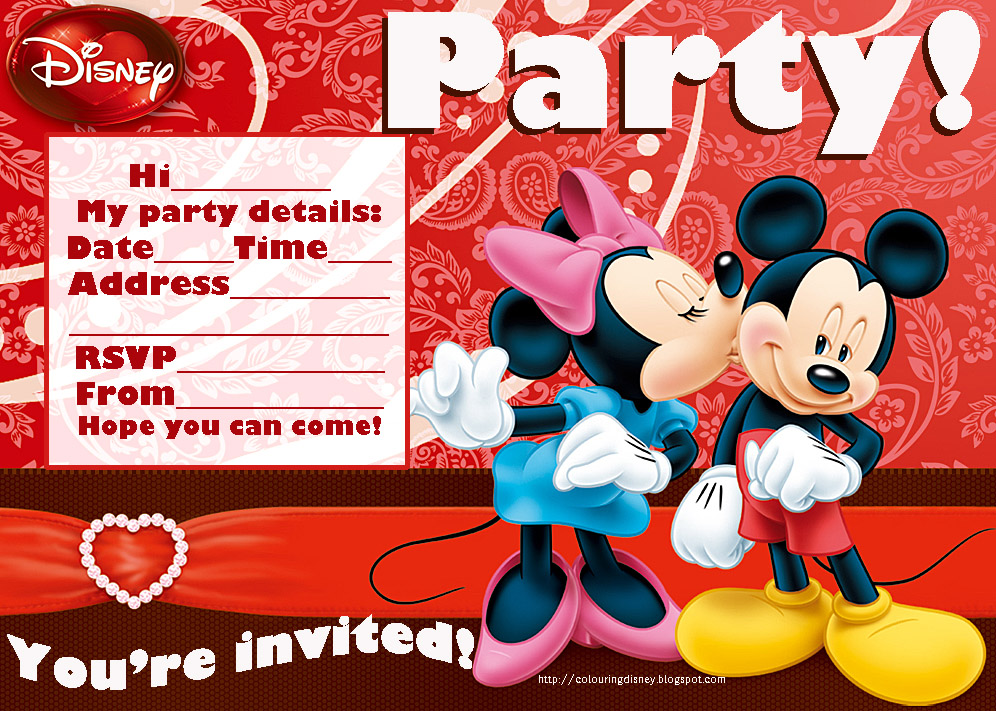 mickey birthday invitations free - Etame.mibawa.co