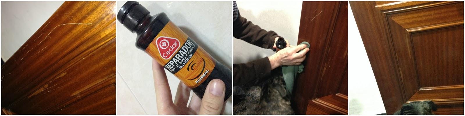 Reparador de arañazos madera