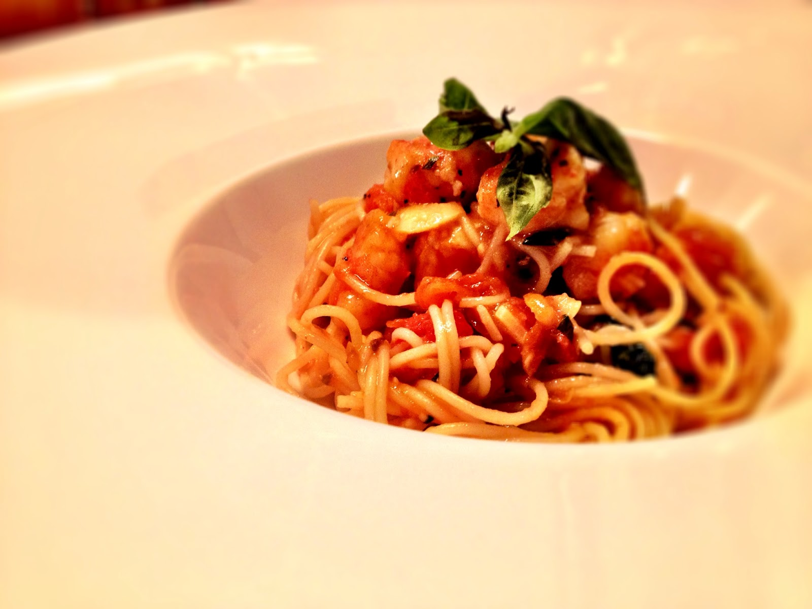 The Silver Chef: Angel Hair Pasta with Shrimp and Roasted Tomato Sauce