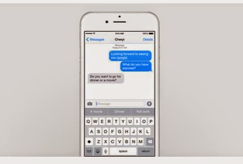 iphone 6 predictive keyboard