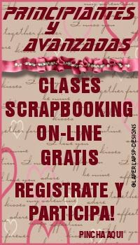 Clases Scrapbooking on-line...inscribete!
