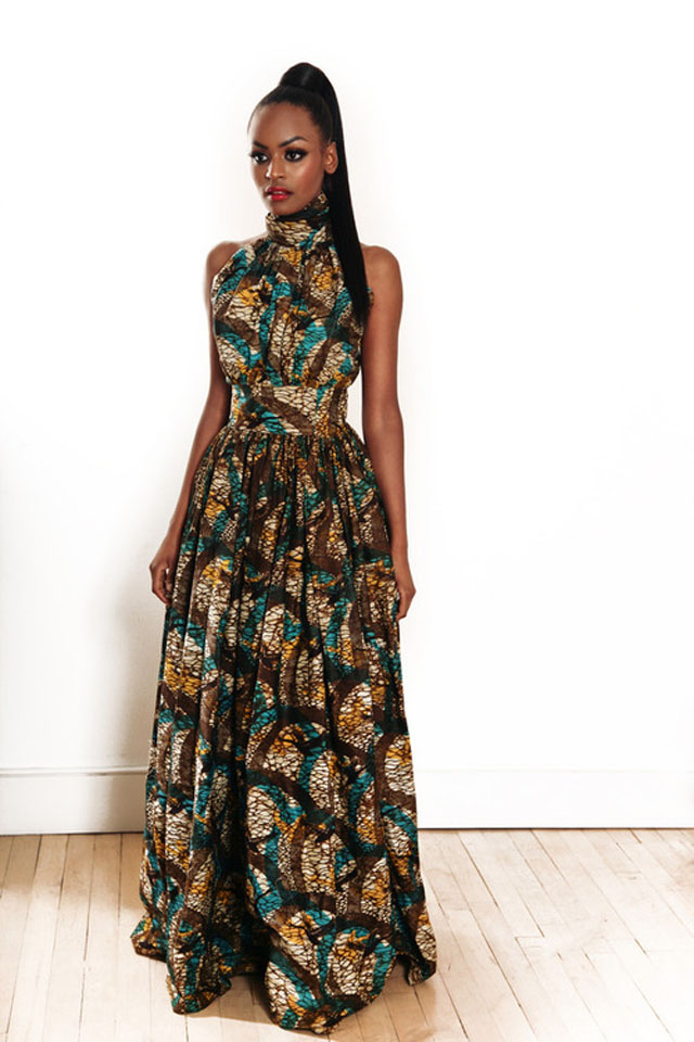 kitenge Maxi dress-long ankara dress and robe  pagne  africain sur ciaafrique