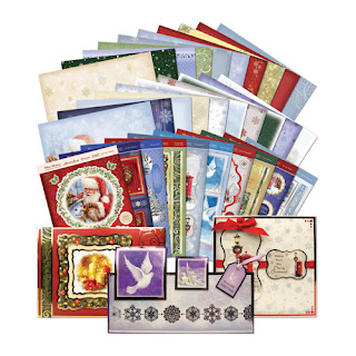 Hunkydory die cut toppers & co-ordinating card - Christmas Classics Collection