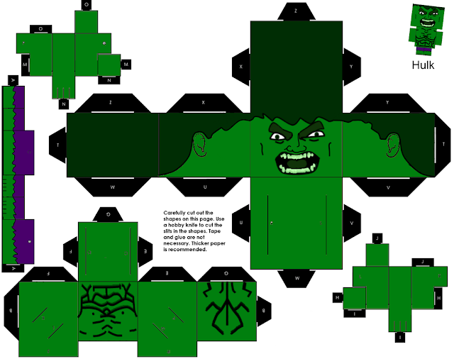 Papercraft Hulk para montar