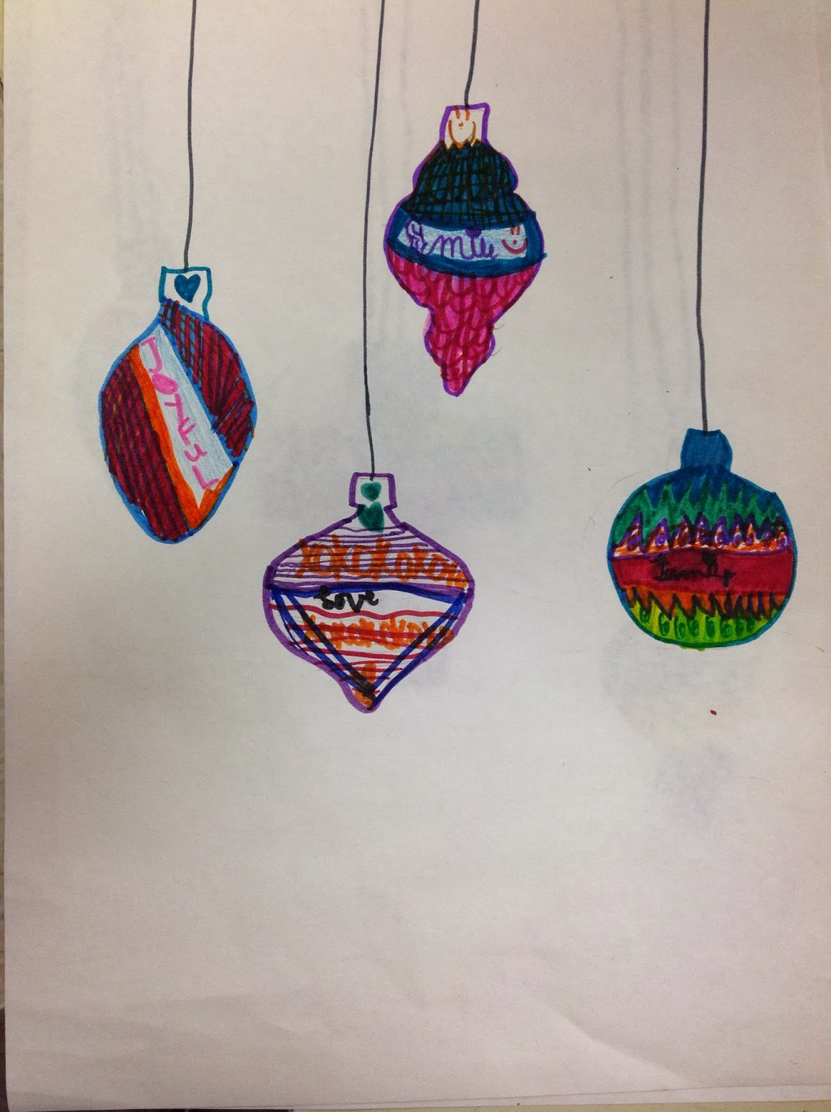 Fourth Grade Christmas Ornament with Meaning and Variety Art Lesson