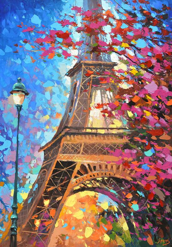 Cuadros modernos pinturas y dibujos calles parisinas cuadros modernos dmitry spiros - Imagenes para cuadros ...