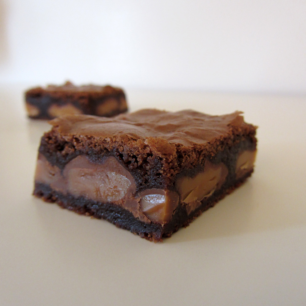 Chips That Pass in the Night: Caramel Brownies, Turtle Brownies
