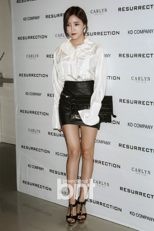 T-ara's HyoMin and JiYeon at RESURRECTION's Fashion Event ~ T-ara ...