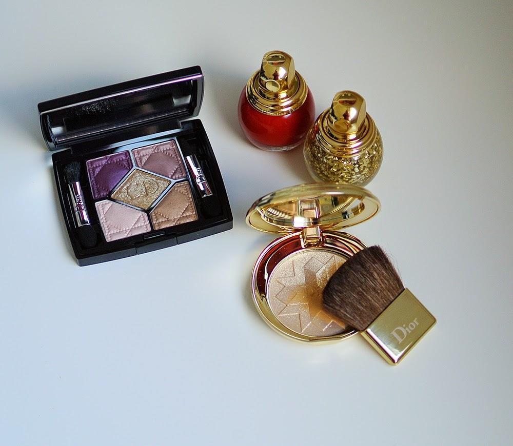 diorific nail polish pressed powder 5 couleurs
