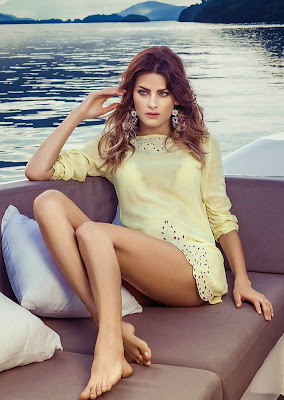 Isabeli Fontana sexy poses and sultry curves for the new Morena Rosa swimwear collection