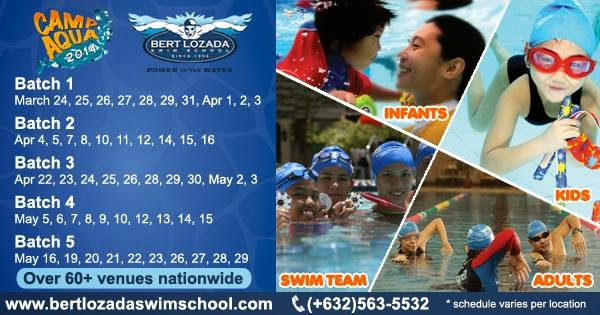 swimming lesson, Ace Water Spa, Bert Lozada, fee, schedule, summer, Ace Water Spa swimming lesson