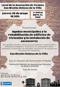 Ayudas municipales a la rehabilitación en San Nicolás-Dehesa de la Villa