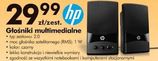 Głośniki multimedialne HP z Biedronki ulotka