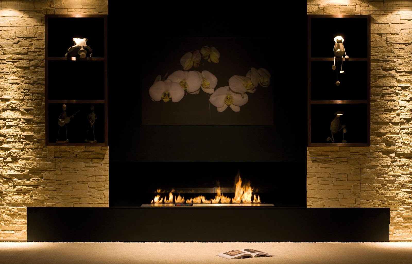 planika fires offical company blog divine pearl magazine features planika bio fireplaces. Black Bedroom Furniture Sets. Home Design Ideas