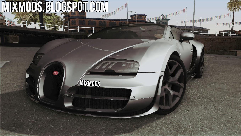 bugatti veyron grand sport vitesse mixmods mods para gta san andreas e outros. Black Bedroom Furniture Sets. Home Design Ideas