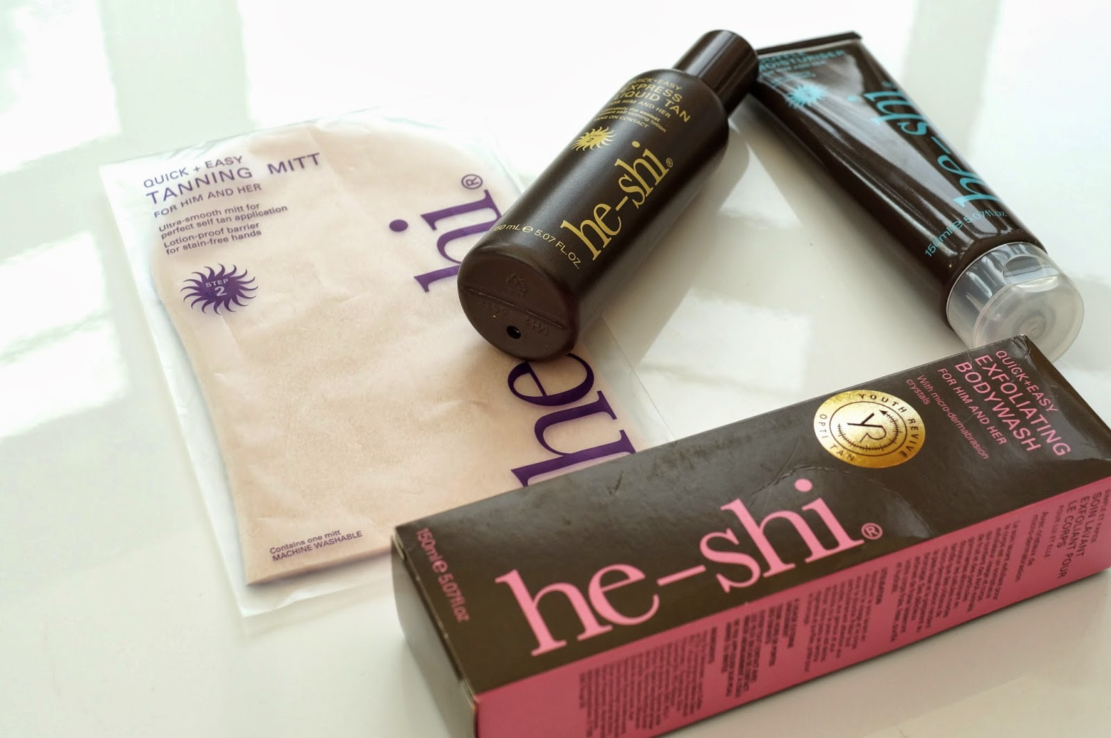 he-shi fake tan review