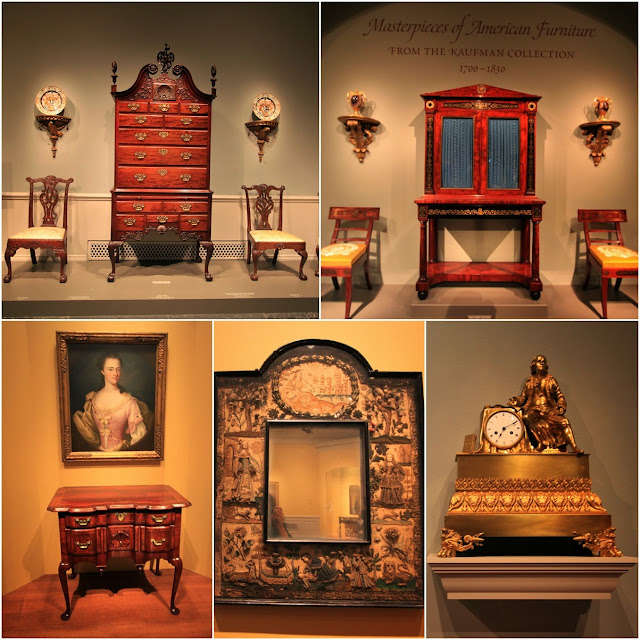 Various Antique American Furniture at National Gallery of Art in Washington DC, USA