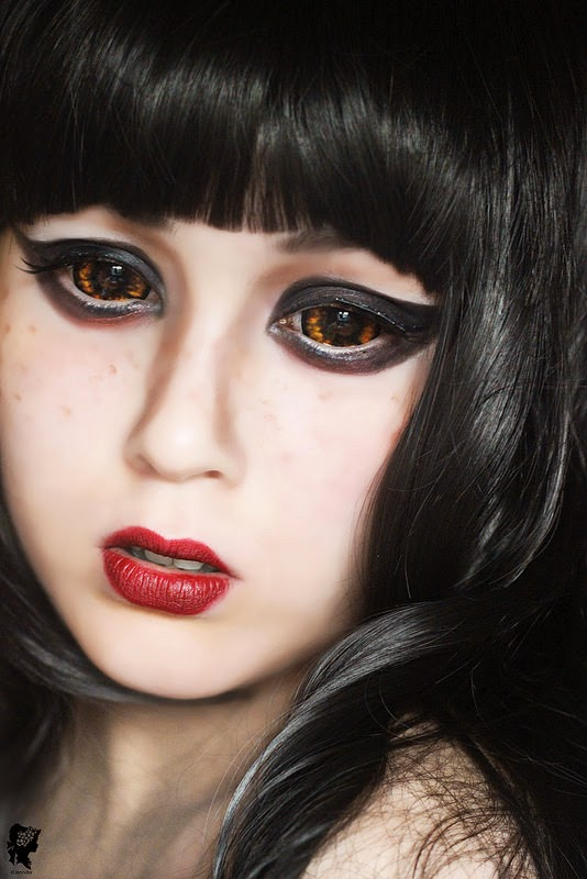 Halloween Sclera Lenses: Phantasee Morbius Gold Sclera Lenses