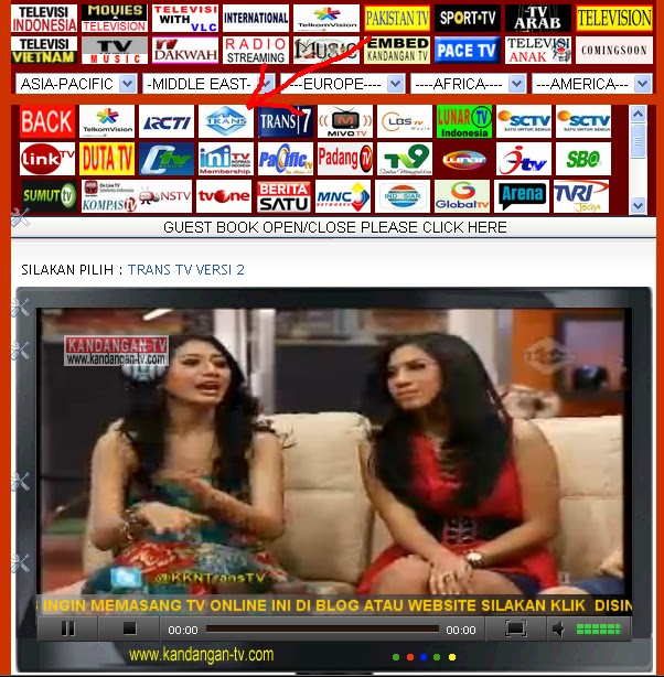tv online dan memilih chanel tv tv online terlengkap dan tercepat ...
