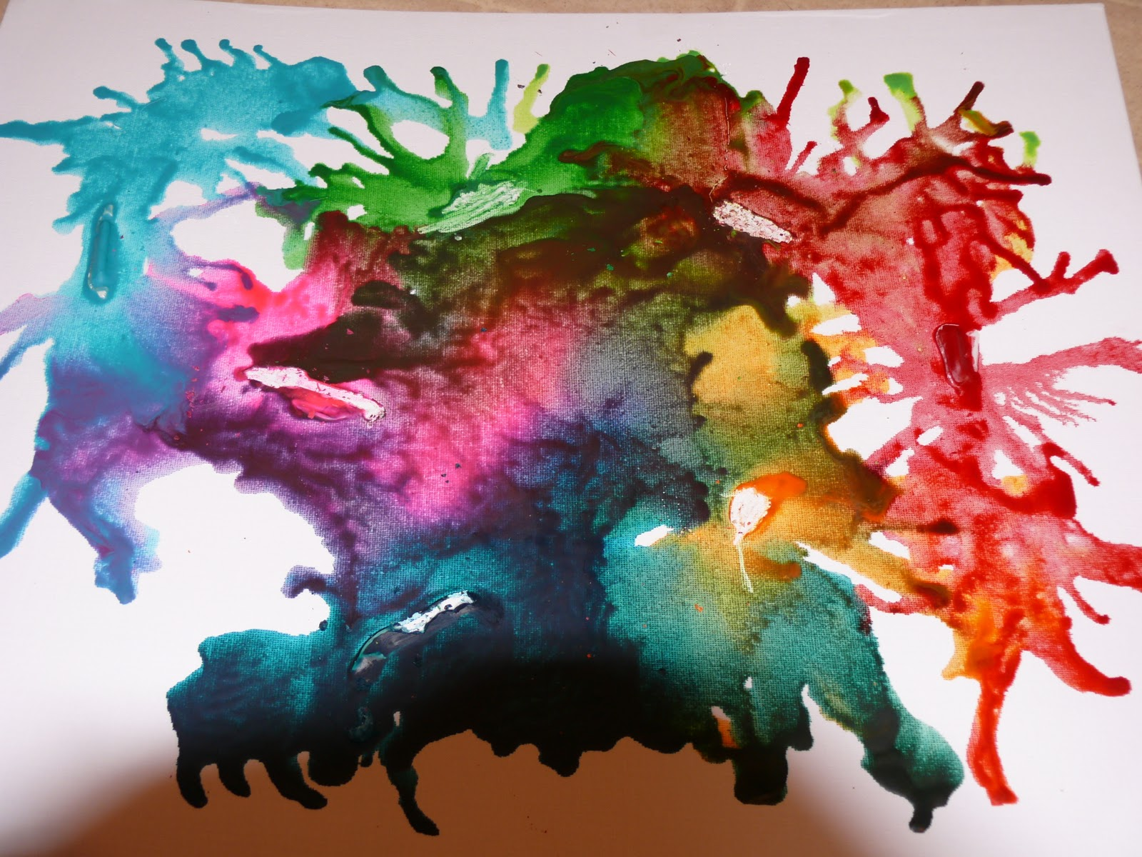 the heat is on melted crayon art