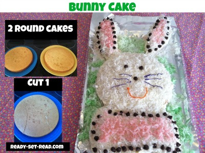bunny cake, easter activities for kids, easter ideas, little peter rabbit, ready set read