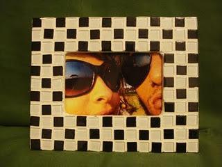 Porta retrato! Passo a passo de mosaico.