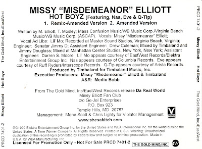Missy Misdemeanor Ellitott (Feat. Nas Eve & Q-Tip) - Hot Boyz-(Promo_Remix)-1999
