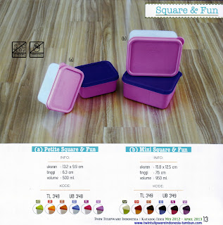Info & Harga Twin Tulip Tulipware 2014 : Petite Square & Fun | Mini Square & Fun