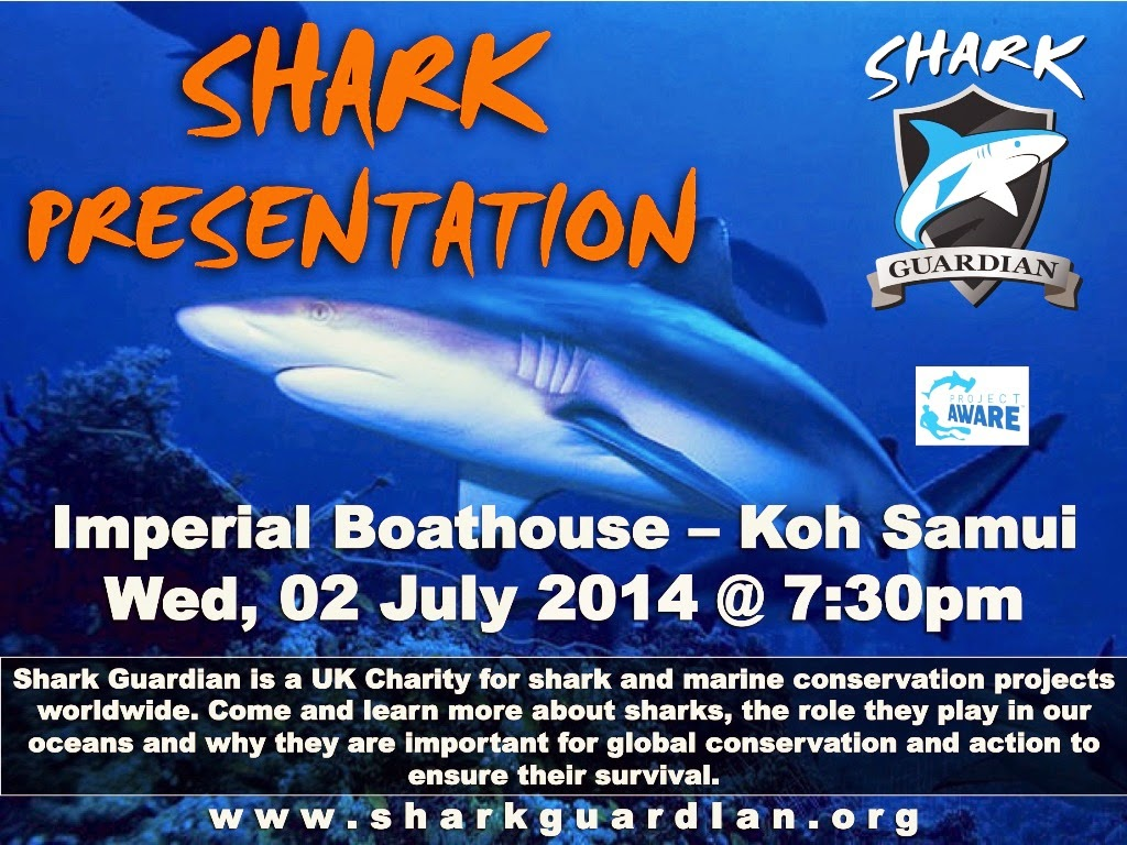 Shark Guardian presentation Wednesday 2nd July, Koh Samui, Thailand