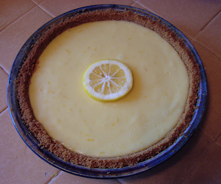 Cooked Lemon Pie from Side