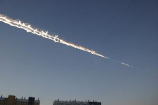 Meteor yang Jatuh di Negara Rusia