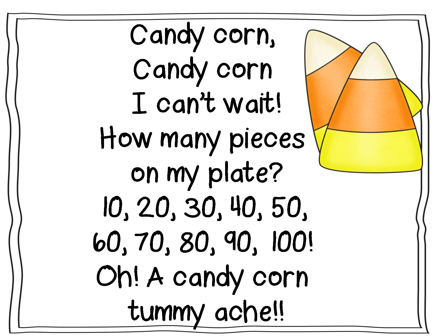 Candy Corn Writing Template Images & Pictures - Becuo