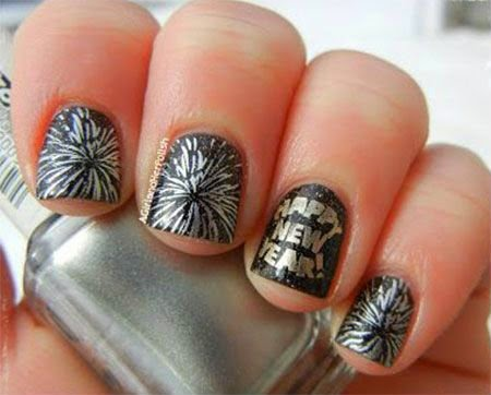 Very Cute Nail Arts | Best Nail Art For Teens | Happy new year nail polish
