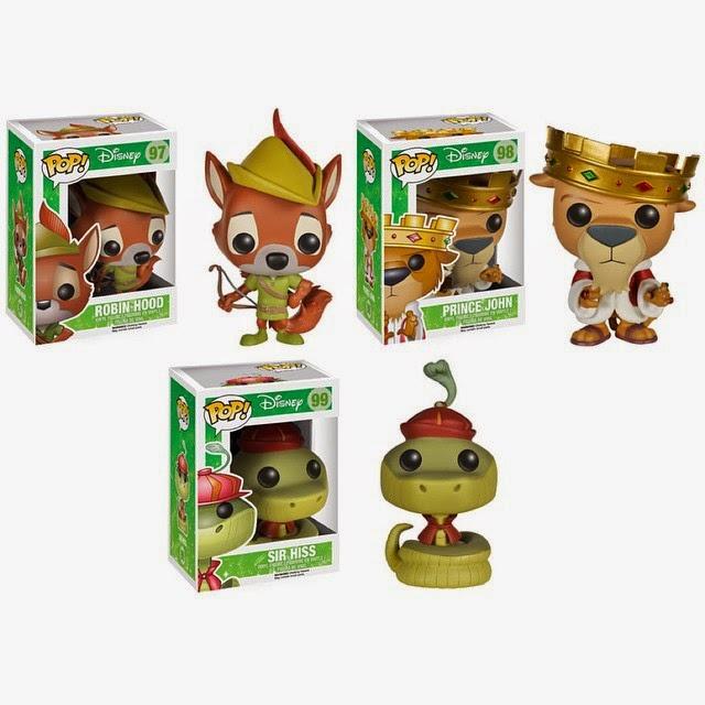 Robin Hood Pop! Disney Vinyl Figures by Funko - Robin Hood, Prince John & Sir Hiss