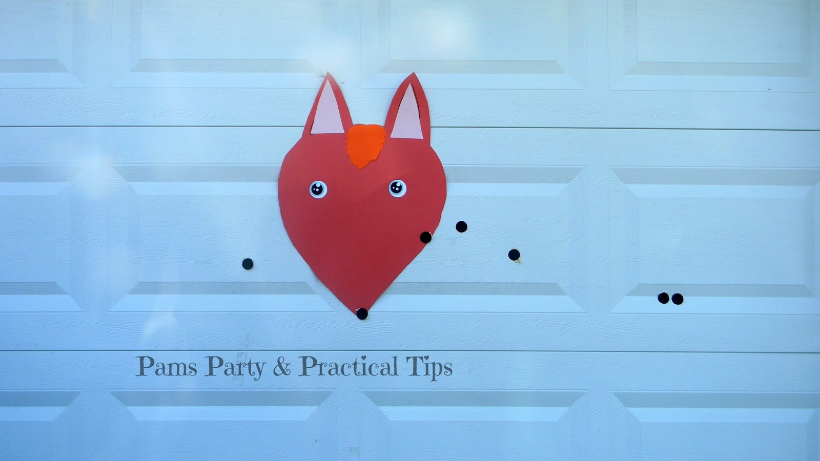 Pin the Nose on the Fox Party Game