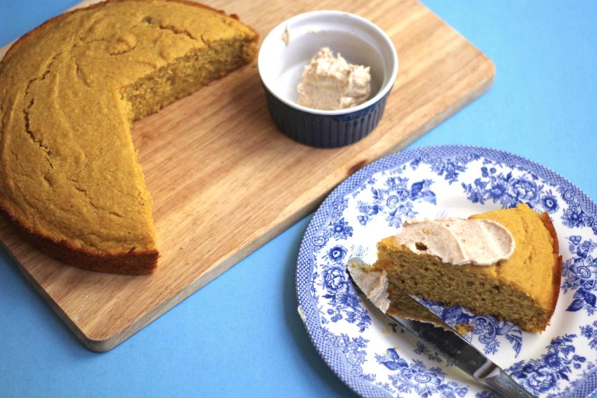 Brown Butter Pumpkin Cornbread - Grandbaby Cakes