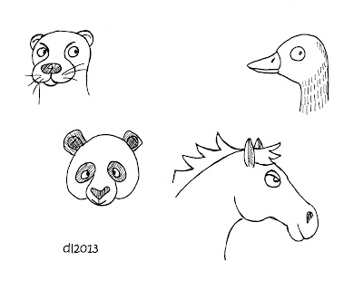 Easy to Draw Cute Animal Drawings